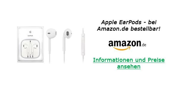 Apple EarPods bei Amazon.de - Informationen und Preise